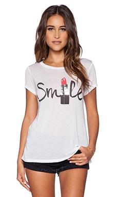 Lauren Moshi Lipstick Smile Amelie Tee in White