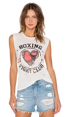 Lauren Moshi Boxing Riley Muscle Tank in Natural