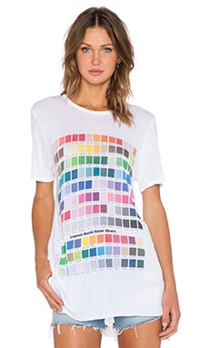 Lauren Moshi Colors Kira Tee in White