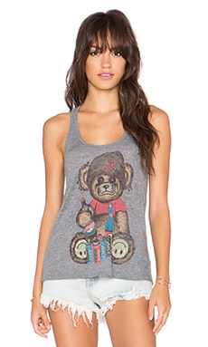 Lauren Moshi Nancy Color Juice Bear Tank in Heather Grey