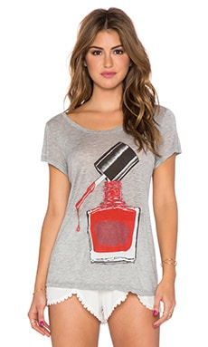 Lauren Moshi Amelie Nail Polish Tee in Heather Grey