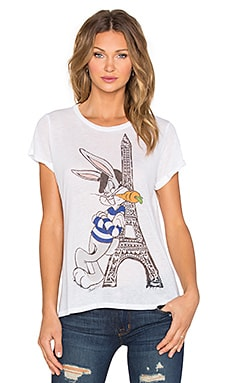 Lauren Moshi Edda Bugs Tower Vintage Tee in White