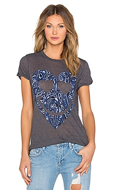 Lauren Moshi Briley Yin Yang Eagle Open Back Tee in Double Black