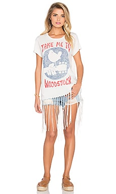 Sage Color Woodstock Tee en Blanc