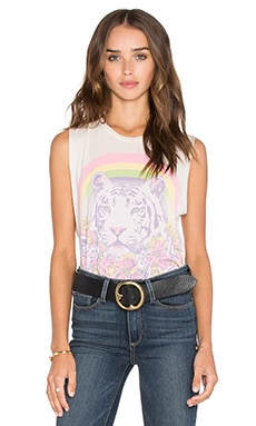 Lauren Moshi Kinzington Pretty Tiger Muscle Tank in French Pink