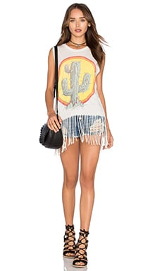 Lauren Moshi Annora Sun Cactus Tank in Faded White