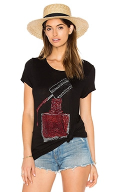 Lauren Moshi Janie Classic Short Sleeve Tee in Black