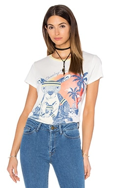 Lauren Moshi Peaches Tee in White & Custard