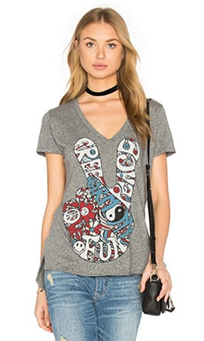 Lauren Moshi Emmalyn Scoop Tee in Heather Grey