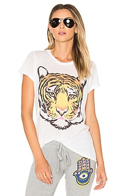 Edda Wild Tiger Tee in White