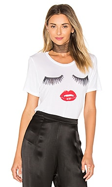 Kelis Glam Face Tee in White