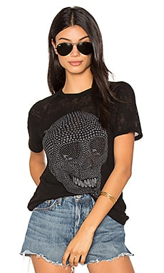 Suki Mini Star Skull Tee in Schwarz
