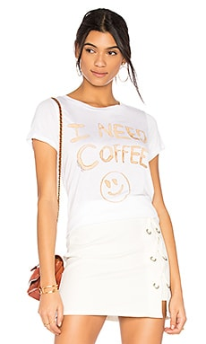 Janie I Need Coffee Tee in Creme