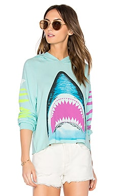 Oceana Bright Shark Pullover in Mint