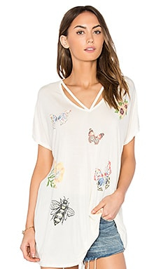 Presley Butterfly Lane Tee in White