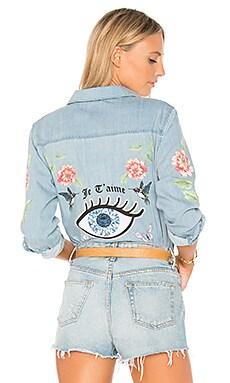 Sloane Love You Forever Rose Denim Shirt