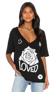 Brixton Short Sleeve Oversized V Neck Tee Lauren Moshi $110 BEST SELLER