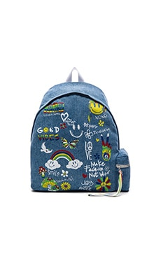 Lauren Moshi Quincy Patchwork Backpack in Hada Mada Denim
