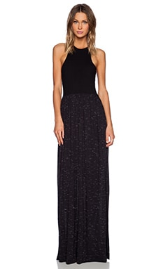 LNA Bel Air Maxi Dress in Black & Black