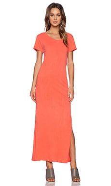 LNA T Shirt Maxi Dress in Spring Coral