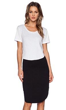 LNA Arc Dress in White & Black