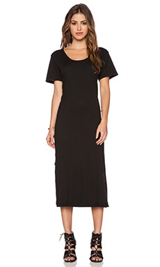 LNA T-Shirt Midi Dress in Black