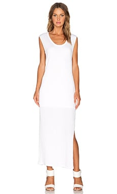 LNA Rancho Column Dress in White