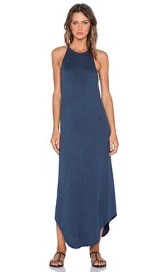 LNA Leigh Bib Tank Dress in Azul