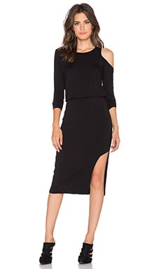 LNA Slasher Dress in Black