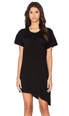LNA Slant Tee Dress in Black