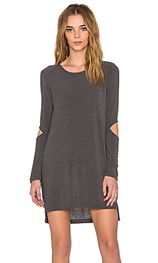 LNA Durango Sweater Dress in Charcoal