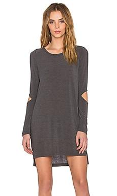 LNA Durango Sweater Dress in Charcoal