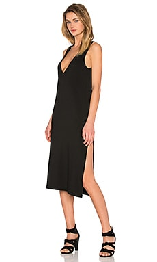 Extreme V Column Dress in Black