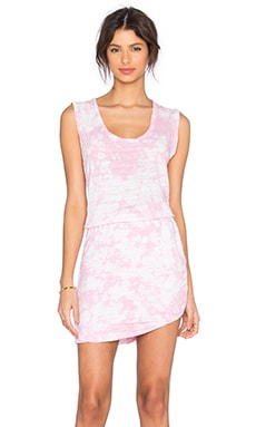 LNA Double Layer Tank Dress in Rosie Tie Dye