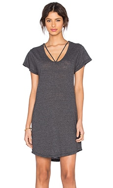 Strappy Tee Dress en Granite