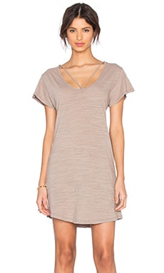 LNA Strappy Tee Dress in Stone