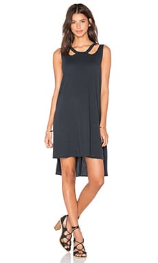 LNA Aura Dress in Faded Black