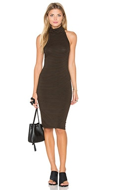 Kyra Dress in Chocolate Stripe