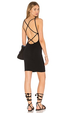 LNA Strappy Mini Dress in Black