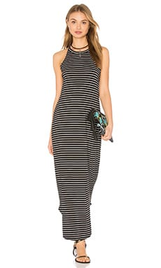 LNA Stripe Leigh Dress in Black & White Stripe