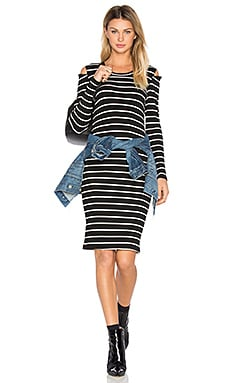Tay Dress in Cream & Black Stripe