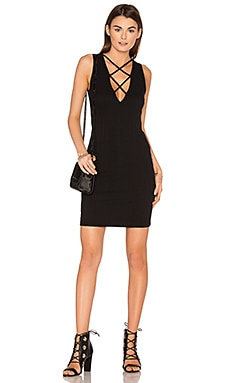 Lace Up V Dress