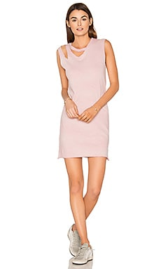 Double Cut Tank Dress in Rose Potassium