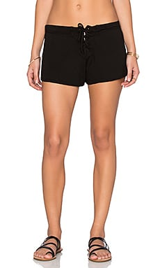 Lace Up Short en Negro