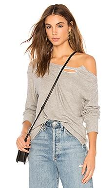 Купить Открытые плечи свитшот - LNA серого цвета
