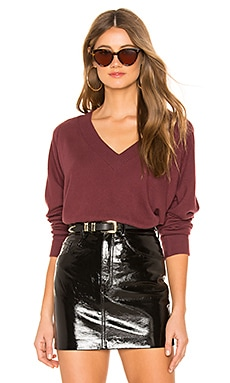 Brushed Moby V Neck Sweater LNA $74
