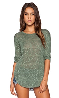 LNA Raw Sweater in Jade