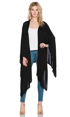 LNA Poncho Wrap in Black