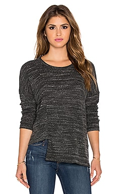 LNA Uneven Sweater in Heather Black