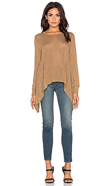 LNA Ribbon Tie Sweater in Camel